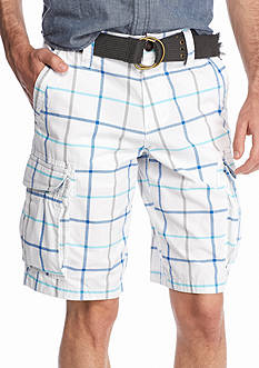 Red Camel® Plaid Ripstop Cargo Shorts