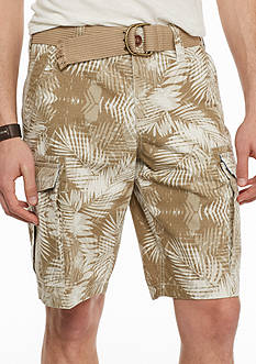 Red Camel® Tropical Ripstop Belted Cargo Shorts