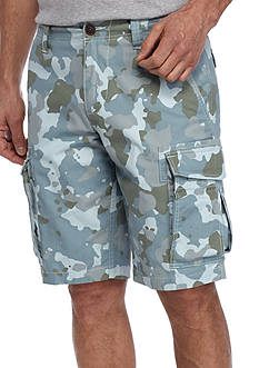 Red Camel Blue Camo Ripstop Cargo Shorts
