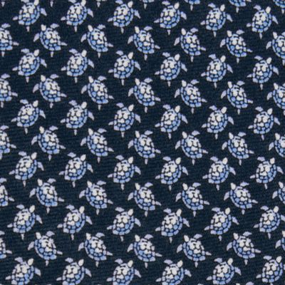 Young Men: Neckties Sale: Blue Tommy Hilfiger Crawling Turtles Tie