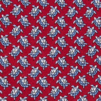 Men: All Neckties Sale: Red Tommy Hilfiger Crawling Turtles Tie