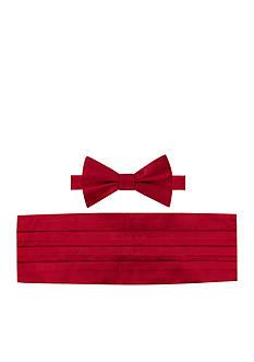 Tommy Hilfiger Solid Satin Bow Tie and Cummerbund Set