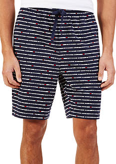 Nautica Stripe Print Knit Lounge Shorts