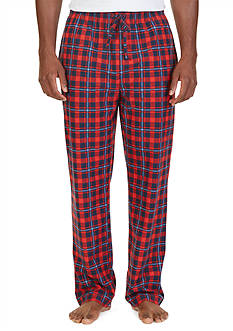 Nautica Lightweight Sueded Fleece Plaid Lounge Pants