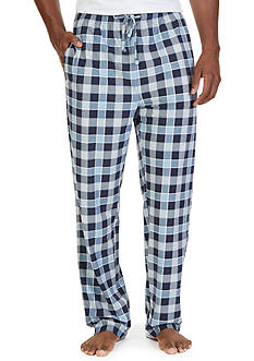 Nautica Lighweight Sueded Fleece Check Lounge Pants