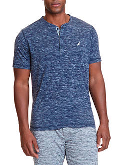 Nautica Space Dyed Henley Shirt
