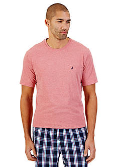 Nautica Short Sleeve Heathered Crew Neck Tee
