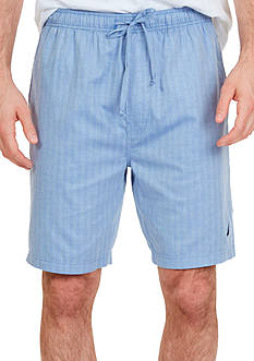 Nautica Big & Tall Woven Herringbone Sleep Shorts