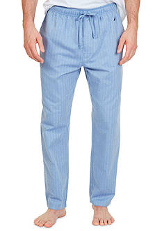 Nautica Big and Tall Woven Herringbone Sleep Pants