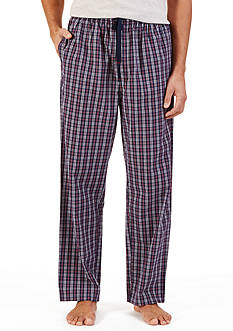 Nautica Navy and Red Plaid Lounge Pants