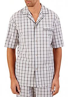 Nautica Plaid Woven Camp Lounge Shirt