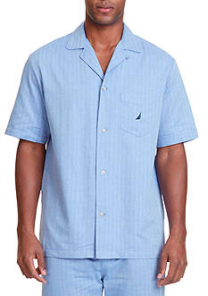 Nautica Herringbone Sleep Shirt