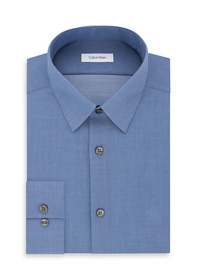 Calvin klein steel non iron performance slim fit dress for Non iron slim fit dress shirts