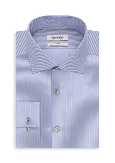 Calvin Klein Big Tall Thin Stripe Dress Shirt Belk