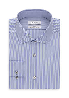 Calvin Klein Big & Tall Thin Stripe Dress Shirt