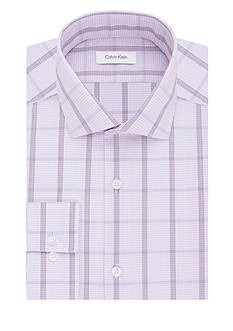 Calvin Klein STEEL Big & Tall Non-Iron Check Plaid Dress Shirt