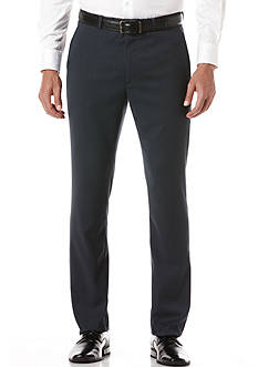 Perry Ellis Slim-Fit Flat-Front Non-Iron Travel Luxe Pants