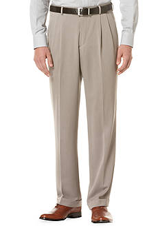 Perry Ellis Classic-Fit Pleated Non-Iron Micro Melange Pants