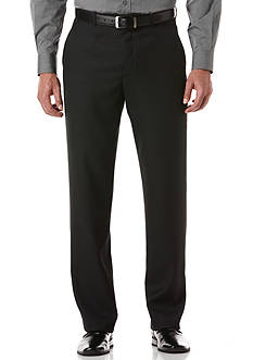 Perry Ellis Classic-Fit Flat-Front Non-Iron Sharkskin Dress Pants