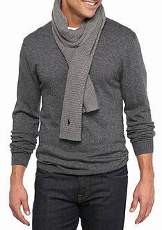 Polo Ralph Lauren Cotton Blend Waffle Knit Muffler Scarf