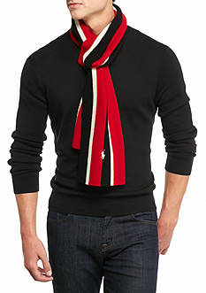 Polo Ralph Lauren Knitted School Stripe Muffler Scarf
