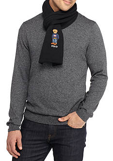 Polo Ralph Lauren Cardigan Rib Polo Bear Scarf