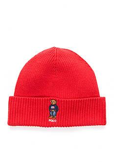 Polo Ralph Lauren Cardigan Rib Bear Cuff Beanie Hat
