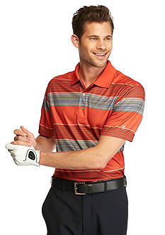 Pro Tour® Short Sleeve Printed Stripe Heathered Polo Shirt