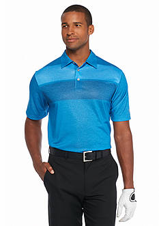 Pro Tour® Short Sleeve Engineered Heathered Stripe Polo Shirt
