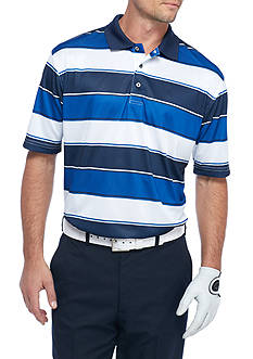 Pro Tour® Short Sleeve Fashion Stripe Airplay Polo Shirt