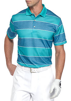 Pro Tour Short Sleeve Airplay Rugby Print Stripe Polo Shirt
