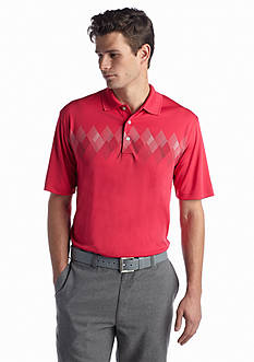 Pro Tour® Short Sleeve Chest Argyle Print Polo