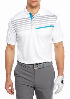 Pro Tour Short Sleeve Tech Asymmetrical Linear Print Shirt