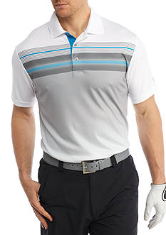 Pro Tour Short Sleeve Tech Engineered Print Polo Shirt