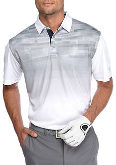 Pro Tour Short Sleeve Tech Micro Placement Print Polo Shirt