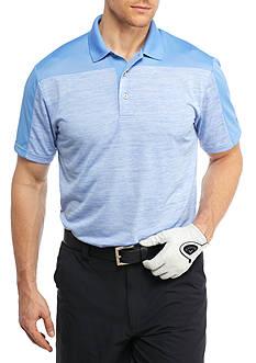 Pro Tour Short Sleeve Space Dye Color Block Polo Shirt