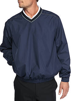 Pro Tour Long Sleeve Wind and Water Resistant Pullover Piped Jacket