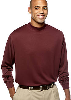Pro Tour Big & Tall Textured Mockneck Knit Top