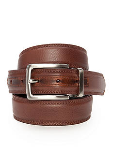 Nautica Cognac Black Reversible Belt