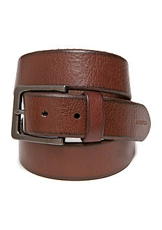 Nautica 1 1/2 in. Cut Edge Casual Leather Belt