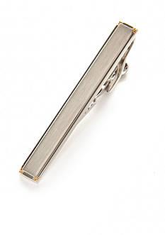 Geoffrey Beene Polished Rhodium Tie Clip