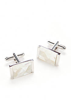 Geoffrey Beene Mother of Pearl Mosaic Cufflinks