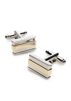 Geoffrey Beene Don Gold and Silver Rectangle Cufflinks