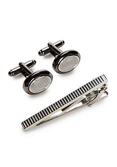 Geoffrey Beene John Cufflinks and Tie Bar Set