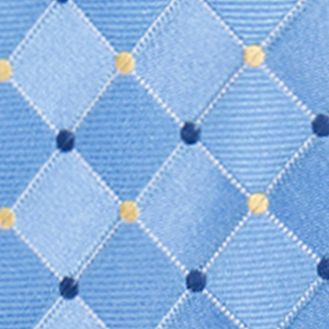 Men: Neckties Sale: Blue Countess Mara Parquet Dot Tie