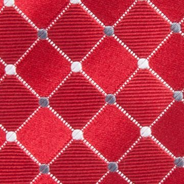 Men: Neckties Sale: Red Countess Mara Parquet Dot Tie