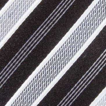 Shop By Brand: Countess Mara: Black Countess Mara Stamford Stripe III Tie
