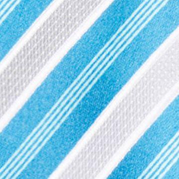 Black Tie: Silver/Aqua Countess Mara Stamford Stripe III Tie