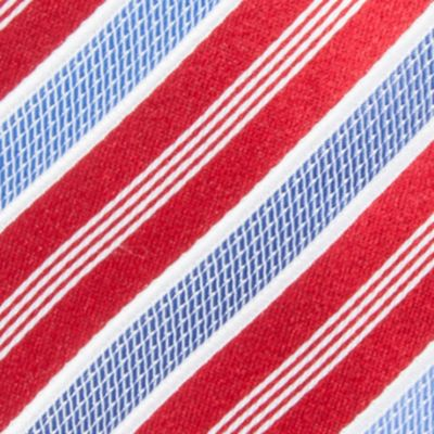 Young Men: Countess Mara Ties & Pocket Squares: Red Countess Mara Stamford Stripe III Tie