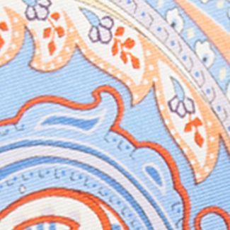 Mens Ties: Paisley & Formal: Light Blue Countess Mara Marrakesh Paisley Tie